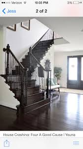 Staining Stair Banister Love A Dark U0026 White Staircase For The Home Pinterest White
