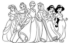 Disney Princesses Coloring Page Funycoloring Princess Coloring Pages