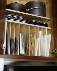 kitchen organization ideas for pots and pans under cabinet range