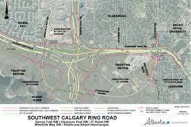 Map Of Canada Showing Calgary by Southwest Calgary Ring Road U2013 Calgary Ring Road