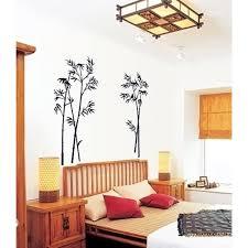 home decor drop shipping new bamboo mural craft art black wall sticker decals home