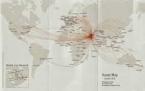 Emirates Route Map by Airline Memorabilia Febrero 2015