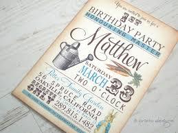 peter rabbit birthday invitations cloveranddot com