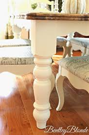 Chalk Paint Table And Chairs Bentleyblonde Diy Farmhouse Table U0026 Dining Set Makeover With