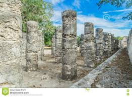 Mayan Ruins Mexico Map by Chichen Itza Mayan Ruins Old City Yucatan Mexico Stock Photo