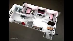 hdb 3ng modified corner floor plan 3 room flat 3d render