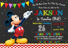 mickey mouse birthday invitations template 20 mickey mouse