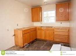 kitchen cabinets without countertop stock photography image