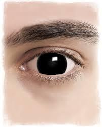 mini sclera contact lenses black for halloween horror shop com