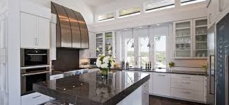 White Cabinets With Grey Quartz Countertops White Drawers Also White Island In Contemporary Kitchen Among Grey