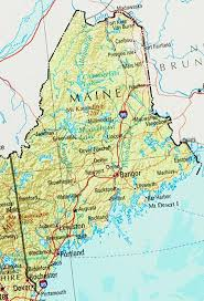 map of maine cities maine reference map