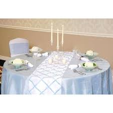 linens for rent we rent linens light blue on white crisscross table runner nbsp