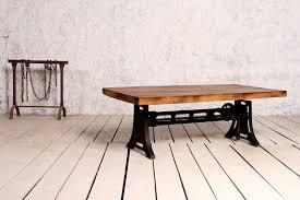 adjustable height end table retro industrial knoll coffee table height adjustable crank
