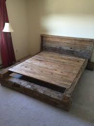 Make Wood Platform Bed by King Bed King Headboard Platform Bed Reclaimed By Jnmrusticdesigns