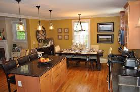 kitchen fashionable open floor living room kitchen and dining