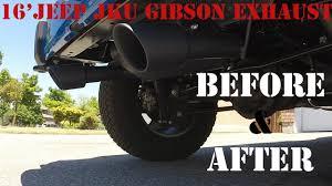 jeep wrangler performance exhaust amazing sound gibson performance exhaust on jeep wrangler