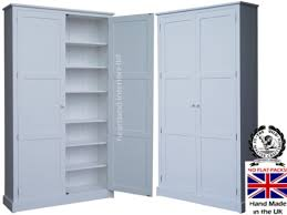 Flat Pack Kitchen Cabinets by 100 Solid Wood Storage Cupboard 7ft X 4ft White Painted Pantry