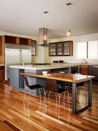 kitchen island with built in table multi purpose open kitchen modern kitchen by