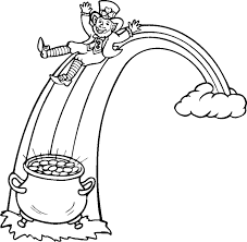 leprechaun rainbow coloring pages getcoloringpages