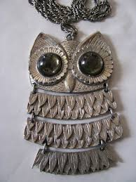 vintage owl necklace jewelry images Vintage owls retro boho hippie jewelry pendant necklaces jpg