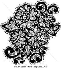 black vector lace ornament vector ornament black lace clip