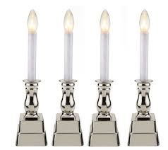 bethlehem lights set of 4 battery op window candles page 1 qvc