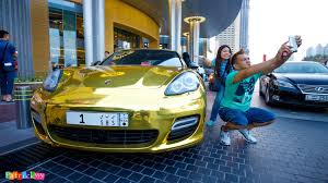 gold porsche 918 gold chrome porsche panamera turbo u0026 extreme selfie youtube
