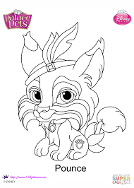 palace pets pounce coloring page free printable coloring pages