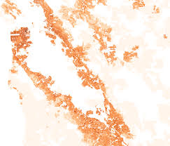 california map population density california population density maps civic data