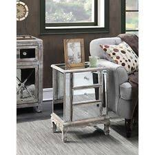 Mirrored Side Table Mirrored Bedside Table Ebay