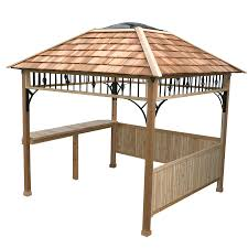 Lowes Patio Gazebo by Shop Outdoor Living Today Natural Cedar Wood Grill Gazebo