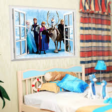 elsa anna sister princess wall sticker home decor cartoon wall