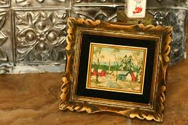10 off sale vintage wood victorian gold picture frame small