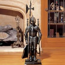 Fireplace Toolset - black knight fireplace tool ensemble the green head