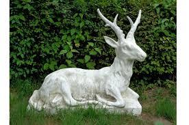 belgium 19th century painted concrete deer garden ornament circa 1890