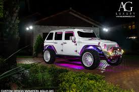 custom jeep white ag luxury wheels jeep wrangler forged wheels