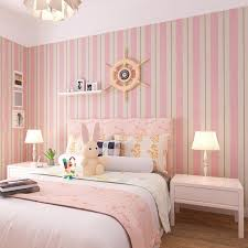 new pattern striped wallpaper blue and white and pink stripe wall