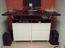 image of the standing desk ikea hack