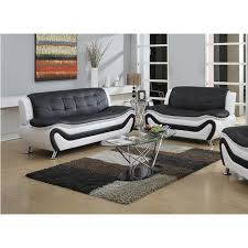 tiffany relaxing contemporary modern style 2pc sofa set black