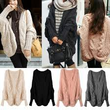 wrap cardigan sweater fashion batwing sleeve slit back chunky cardigan wrap