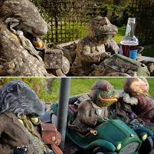 wind in the willows garden ornament restoration before after