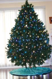 trees decorated purple blue andr tree ideas
