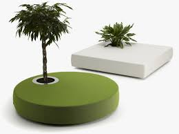 green ottomans ideas with built in plant u2013 green islands home