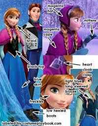 frozen animation costumes u2013 anna elsa costume playbook