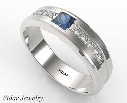 engagement rings with blue stones three blue sapphire wedding band for mens vidar