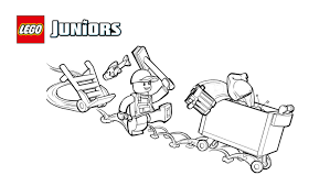 lego juniors garbage truck coloring coloring pages lego