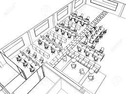 dessin de bureau décrire croquis perspective de dessin d un bureau de l espace