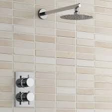 nariman shower set ultra thin shower head with thermostatic shower round wall mounted thermostatic mixer shower