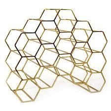 pico 15 stackable wine rack brass xlboom honeycomb wine store