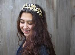 goddess headband gold leaf headband on the hunt